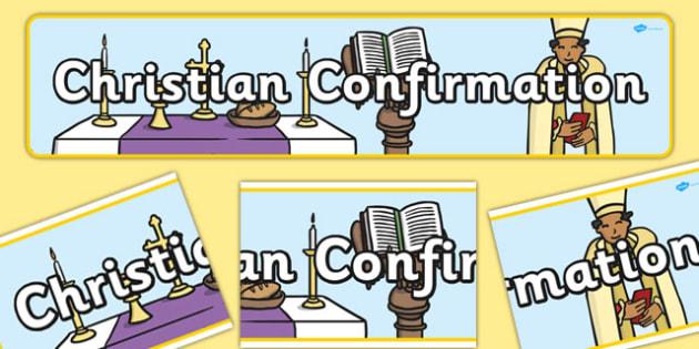Christian Confirmation Display Banner - display banner, display