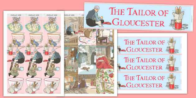 The Tailor of Gloucester Display Borders - tailor, gloucester