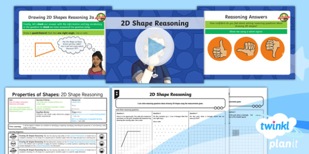 PlanIt Y6 Properties of Shapes Lesson Pack 2D Shape Drawing (3) - Properties of Shape, reasoning, 2D shape, 3D shape, shape nets, triangles, polygons, quadrilaterals,