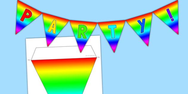 Generic Party Bunting - generic, party, generic party, celebrate, bunting, display