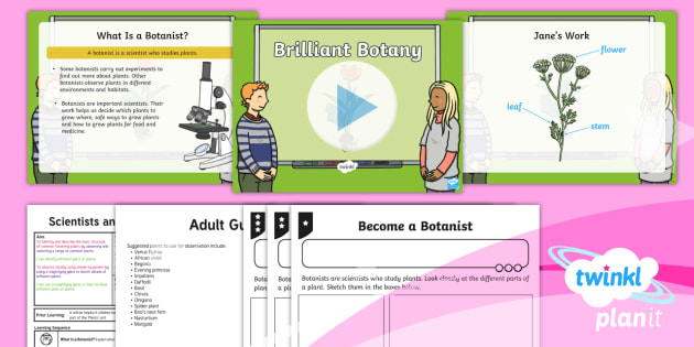 Science: Scientists and Inventors: Brilliant Botany Year 1 Lesson Pack 8