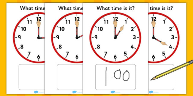 Analogue Clocks Hourly Matching With Hands - analogue, clocks, hourly