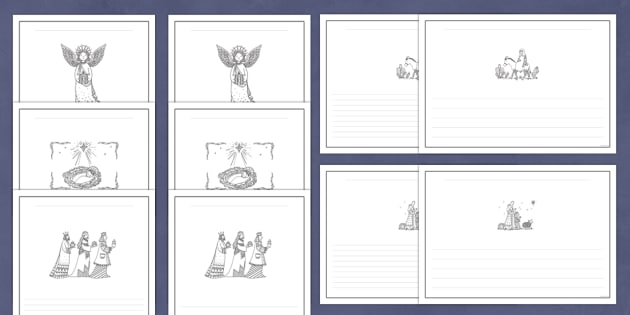 Nativity Christmas Mindfulness Colouring Writing Frames Pack - Priority Resources, nativity, mindfulness, colouring, wet playtime, angel, angels
