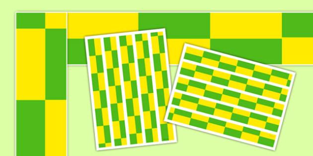 Ambulance Green and Yellow Check Display Borders - ambulance, green and yellow check, display border, display, borders