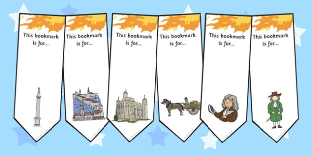 The Great Fire of London Bookmarks - Fire, London, Event, Book