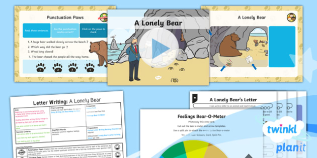 Explorers: Bear Hunt: Letter Writing 3 Y1 Lesson Pack To Support Teaching on 'We're Going on a Bear Hunt'  - Repeating parts, animals, Helen Oxenbury, Jill murphy, Julia Donaldson