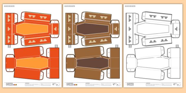 Enkl 3D Halloween Coffin Printables - enkle, printable, model, paper model, paper, craft, activity, 3d, halloween, coffin