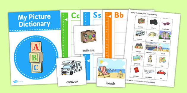 Picture Dictionary Holiday Word Cards Pack - picture, dictionary