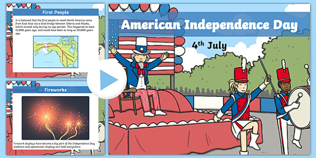 American Independence Day PowerPoint - independence, powerpoint