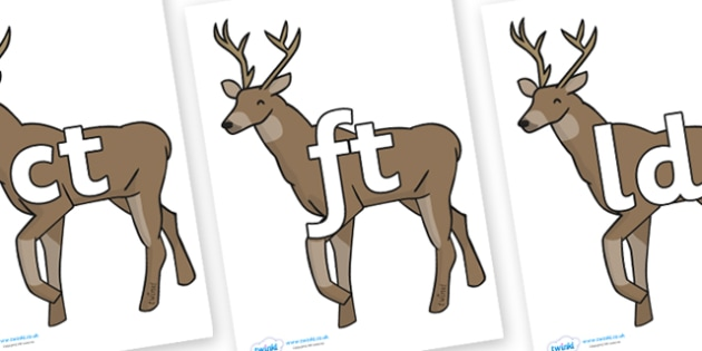 Final Letter Blends on Stags - Final Letters, final letter, letter blend, letter blends, consonant, consonants, digraph, trigraph, literacy, alphabet, letters, foundation stage literacy