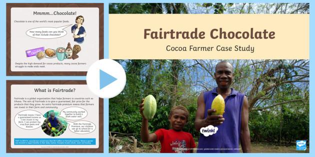 KS2 KS2 World Fairtrade Day Cocoa Farmer Case Study Activity PowerPoint - UK World Fairtrade Day, global, trade, fair, farmers, Ghana, social, community, Fairtrade premium, c