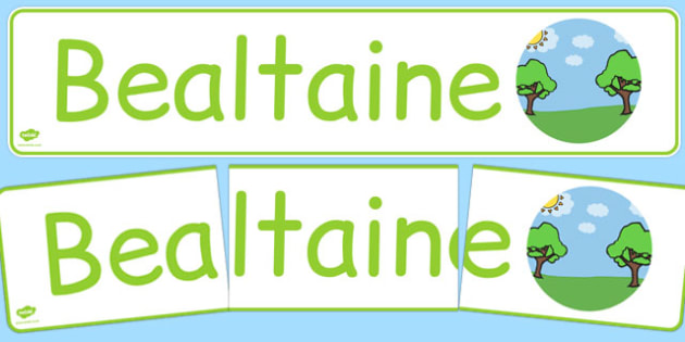 Bealtaine Display Banner Gaeilge - gaeilge, year, months of the year, may