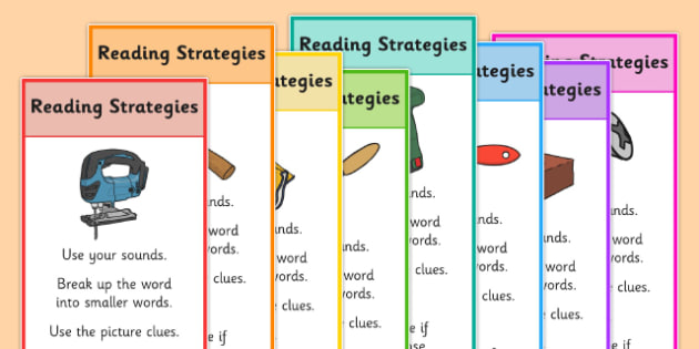 Reading Strategies Bookmarks - reading strategies, bookmarks, reading, read, strategies