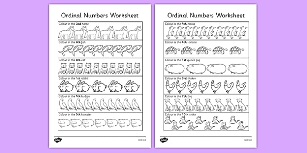 Ordinal Numbers Activity Sheet - ordinal, numbers, worksheet