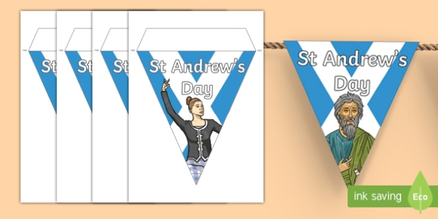 Saint Andrew's Day Display Bunting-Scottish