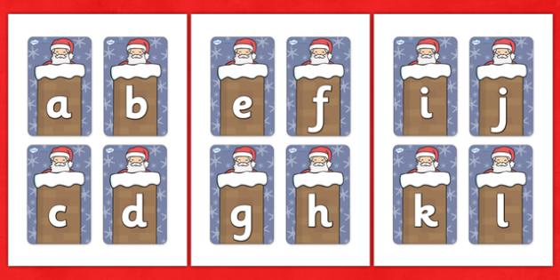 Father Christmas Flashcards (A-Z) - A-Z, xmas, christmas, flashcards, cards, activity, A-Z letters, Alphabet flashcards