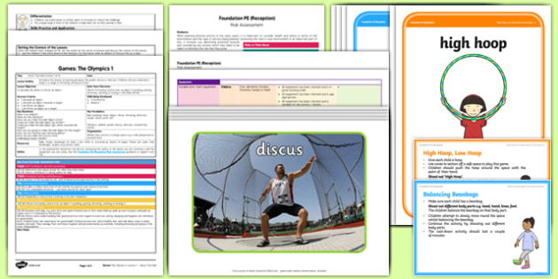 Foundation PE (Reception) - Games - The Olympics Lesson Pack 1: Move That Ball - Olympics, EYFS, PE, Physical Development, Planning