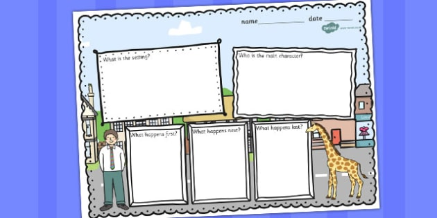 Giant Themed Book Review Writing Frame - writing, frame, giant