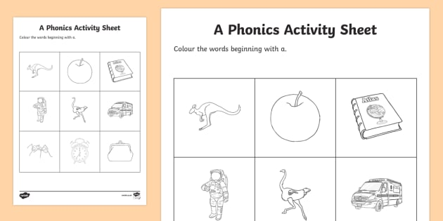 a Phonics Colouring Activity Sheet - Republic of Ireland, Phonics Resources, sounding out, phonics assessment, colouring, activity sheet,