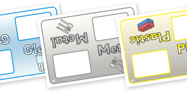 Editable Group Table Signs (Materials) - materials, science, group signs, group labels, group table signs, table sign, teaching groups, class group, class groups, table label, investigation, material properties, shiny, dull, rough, smooth, bumpy, woo