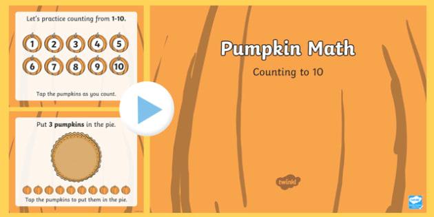 Pumpkin Math Counting Interactive PowerPoint