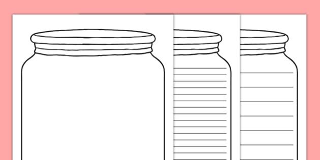 Jar Writing Template