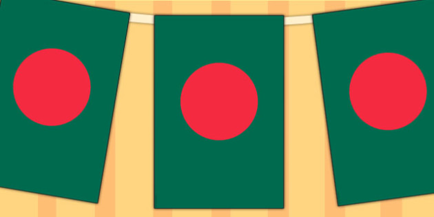 Bangladesh Flag Display Bunting - commonwealth, display, flags