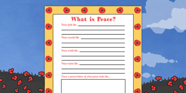 Remembrance Day What Is Peace Writing Frame - remembrance, peace