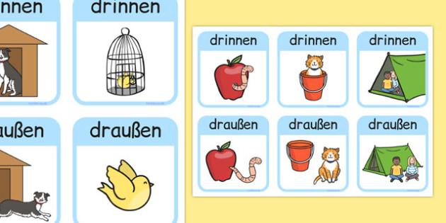 Outside Inside Locational Prepositions German - german, positional language