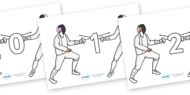 Numbers 0-50 on Fencing - 0-50, foundation stage numeracy, Number recognition, Number flashcards, counting, number frieze, Display numbers, number posters