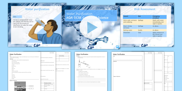 Required Practical Investigations: Water Sample Analysis - Investigation, sodium, chloride, distillation