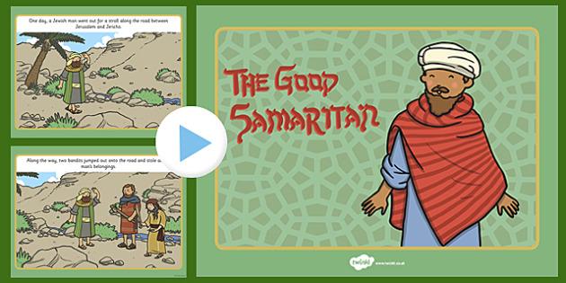 The Good Samaritan Story PowerPoint - good samaritan, the good samaritan, the good samaritan powerpoint, the good samaritan story, samaritan, good samartian