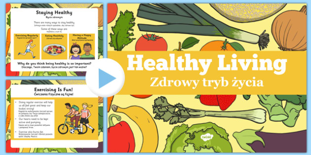 Healthy Eating and Living PowerPoint Polish Translation - polish, powerpoint, power point, interactive, powerpoint presentation, healthy eating, healthy living, health powerpoint, how to be healthy, presentation, slide show, slides, discussion aid, d