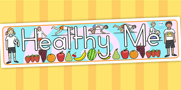 Healthy Me Display Banner - healthy eating, health, header