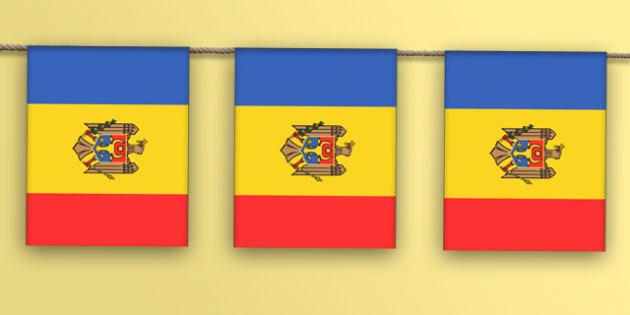 Moldova Flag Bunting - moldova flag, moldova, flag, bunting, display bunting, display