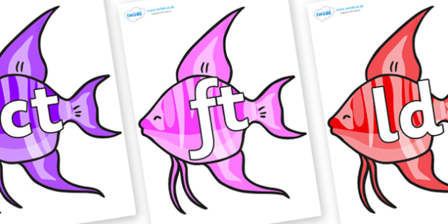 Final Letter Blends on Angelfish - Final Letters, final letter, letter blend, letter blends, consonant, consonants, digraph, trigraph, literacy, alphabet, letters, foundation stage literacy