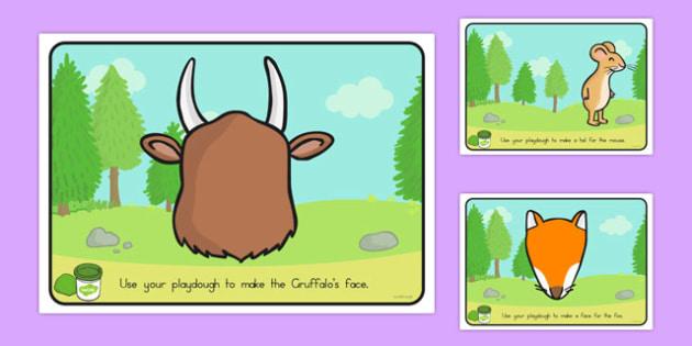 The Gruffalo Playdough Mats - australia, gruffalo, playdough