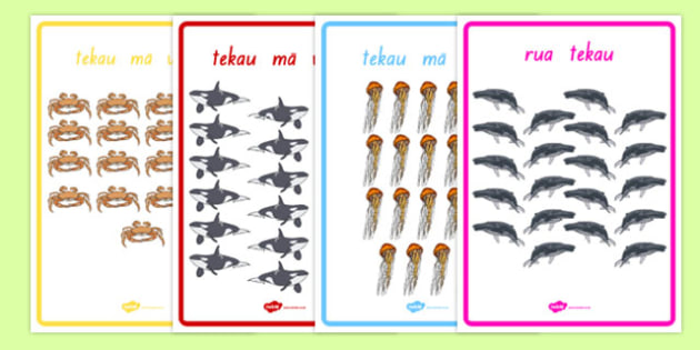 Numbers 1-20 Display Poster Te Reo Māori Animals - te reo maori, new zealand, nz, numbers, display, poster