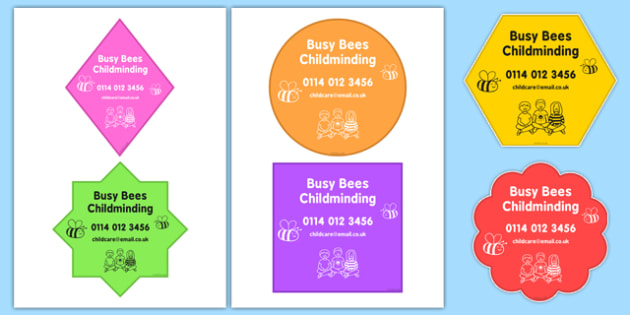 Editable Childminder Setting Signs - editable, childminder, setting, signs