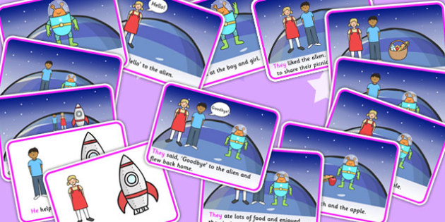 He She They And It Space Story - visual aid, stories, SEN story