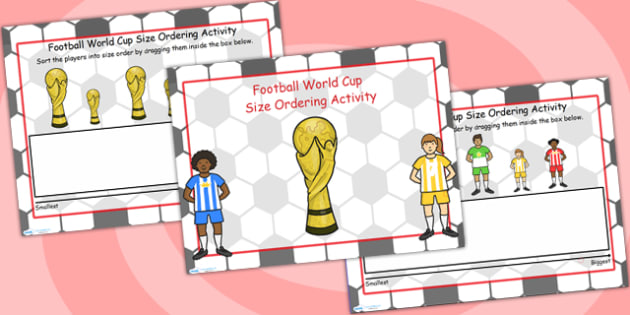 Football World Cup Size Ordering Flipchart - football, world cup