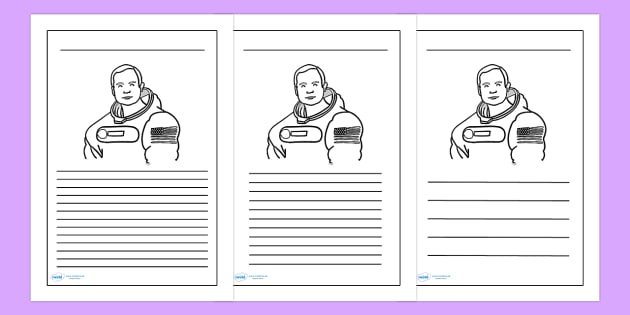 Neil Armstrong Writing Frame - neil armstrong, writing frames, writing aids, writing guide, line guide, writing, writing template, template, frames