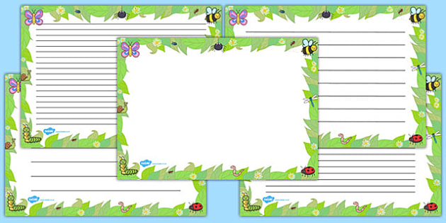 Minibeast Landscape Page Borders - minibeast, page, borders