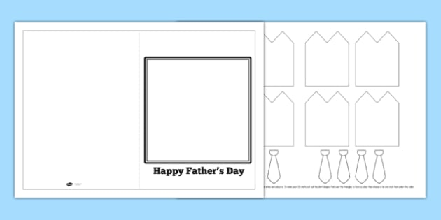 3D Shirt And Tie Father's Day Card - father, Father's day, dad