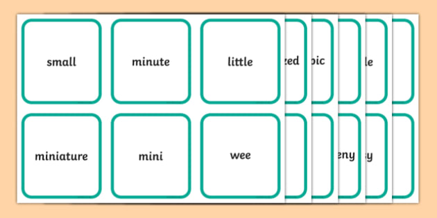Diminutives Matching Cards