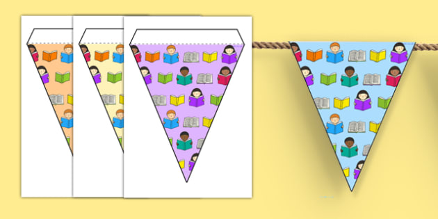 Reading Area Themed Bunting - reading, books, classroom areas