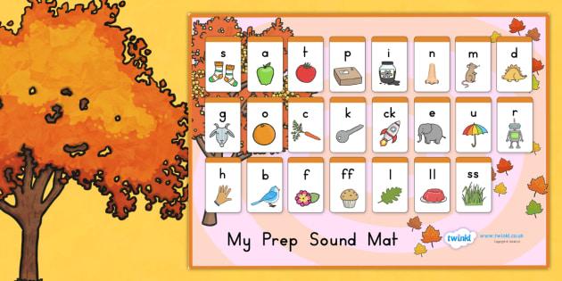 Autumn Prep Sound Mat - seasons, weather, sounds, visual aid