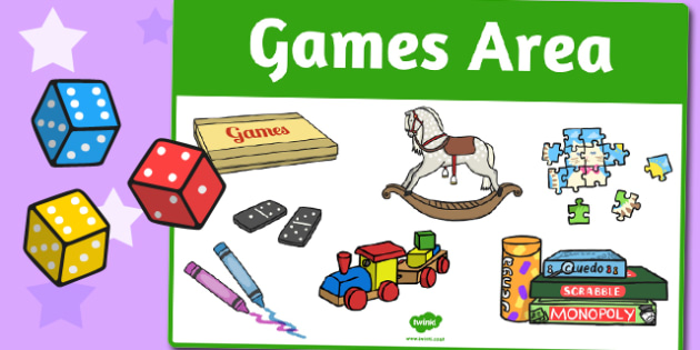 Games Area Sign - area, sign, area sign, games, games area