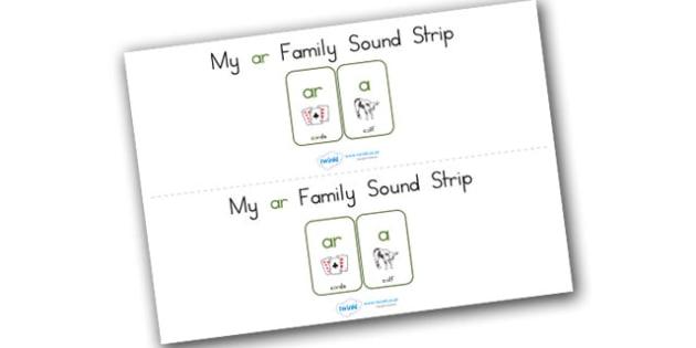 My Ar Family Sound Strip - sound family, visual aid, literacy