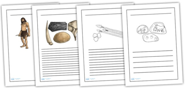 The Stone Age Writing Frames - stone age, writing, history, write